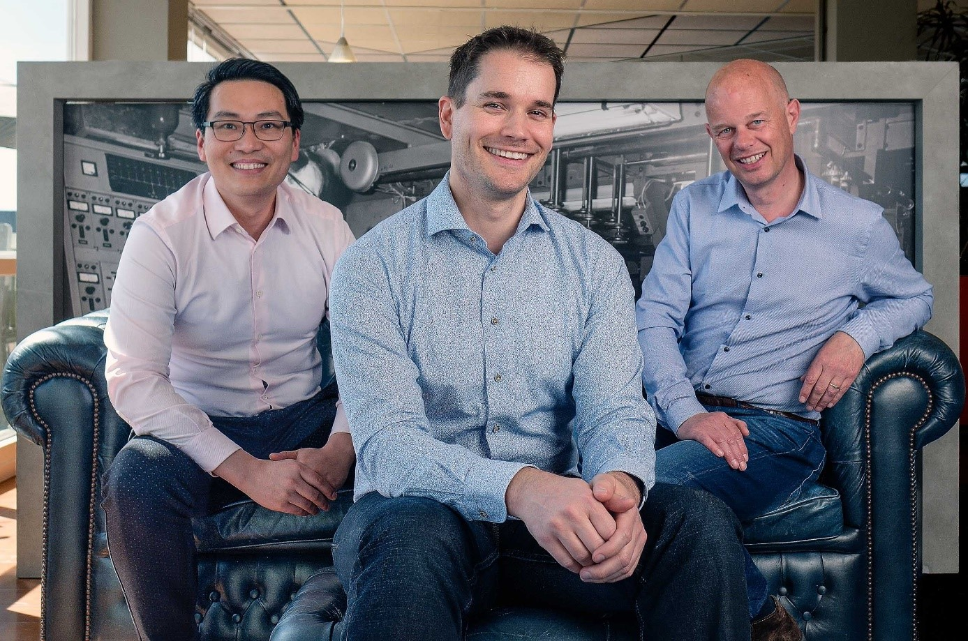 Our executive team (from left to right: Cheng Gong, Davey Daemen, Peter Steffers)